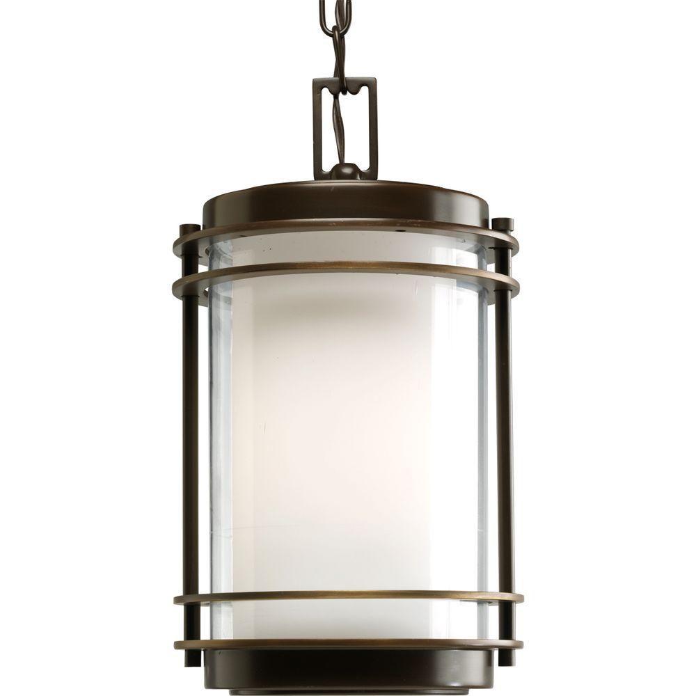 Lanterne suspendue à 1 Lumière, Collection Penfield - fini Bronze Lustre