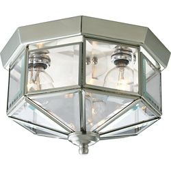 Progress Lighting 3-light Flush mount Fixture in Brushed Nickel
