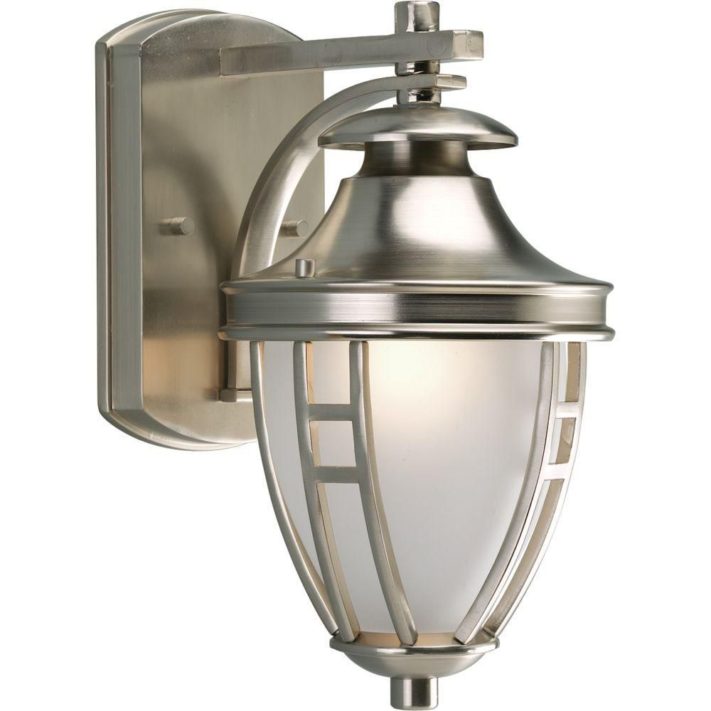 Fairview Collection Brushed Nickel 1-light Wall Lantern