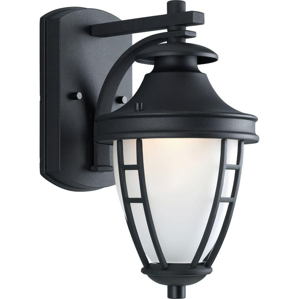 Fairview Collection Textured Black 1-light Wall Lantern