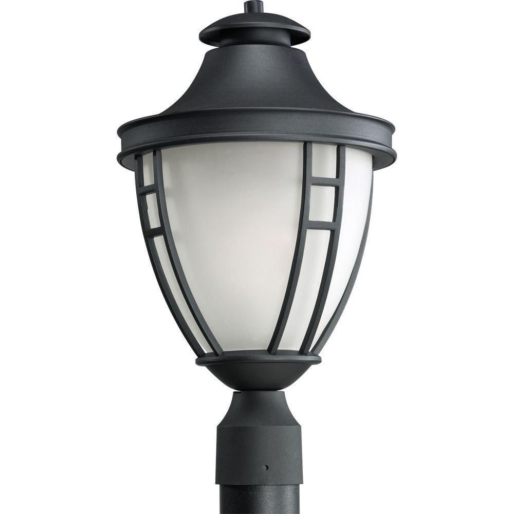 Fairview Collection Textured Black 1-light Post Lantern