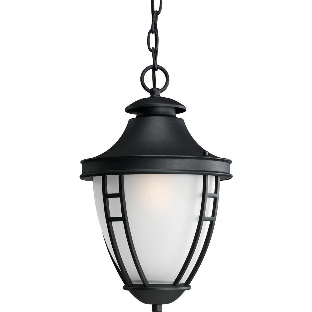 Fairview Collection Textured Black 1-light Hanging Lantern 7.85247E 11 Canada Discount