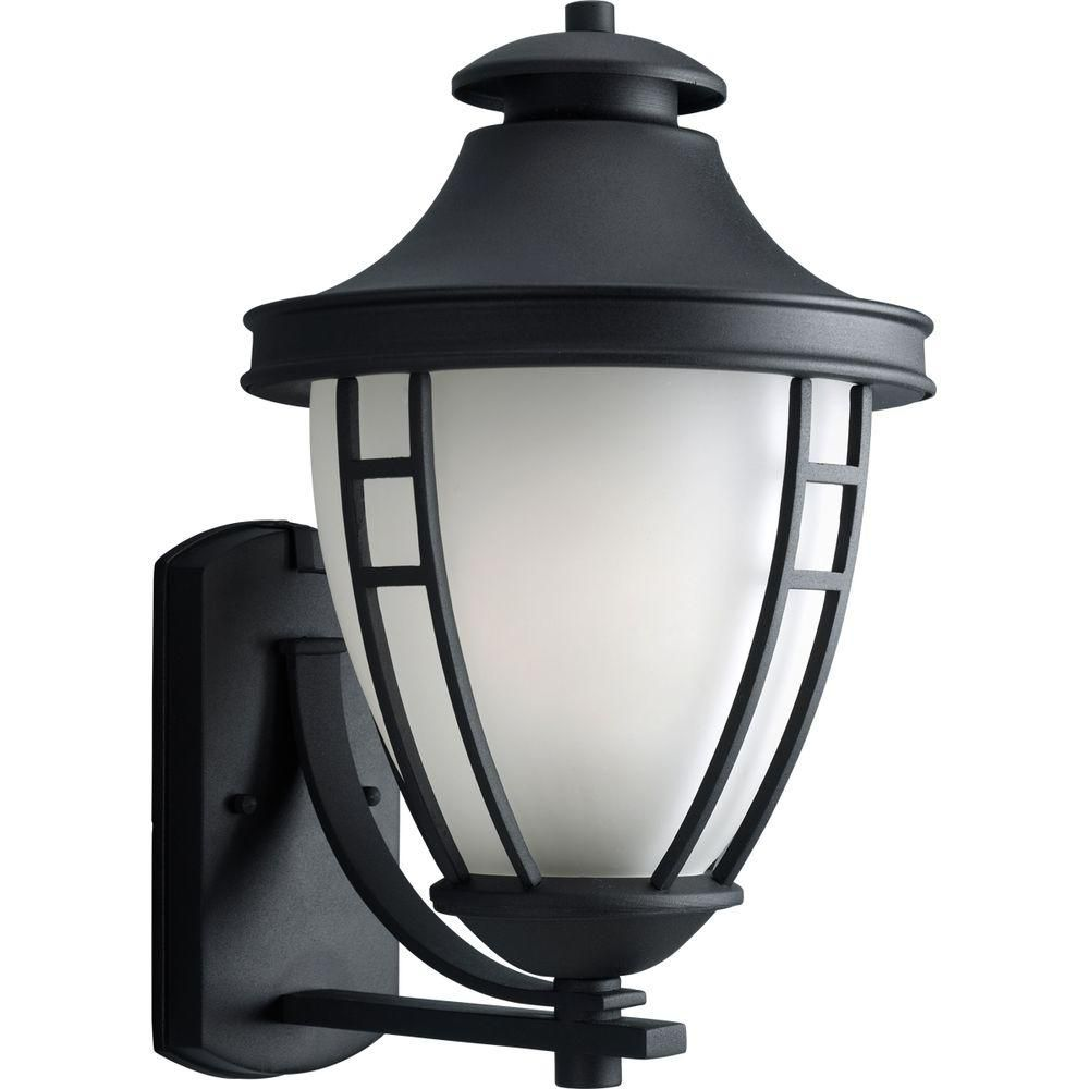 Fairview Collection Textured Black 1-light Wall Lantern 7.85247E 11 Canada Discount