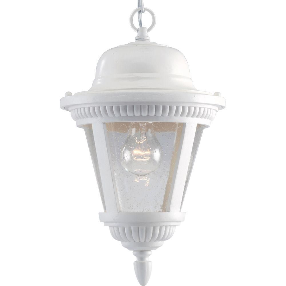Westport Collection White 1-light Hanging Lantern