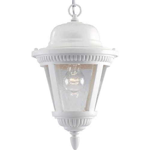 Lanterne suspendue à 1 Lumière, Collection Westport - fini Blanc