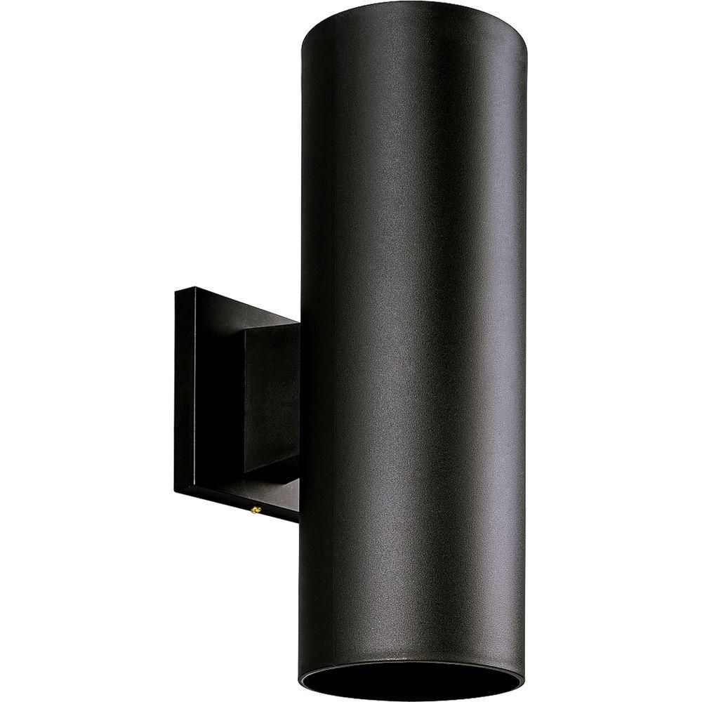 Black 2-light Wall Lantern