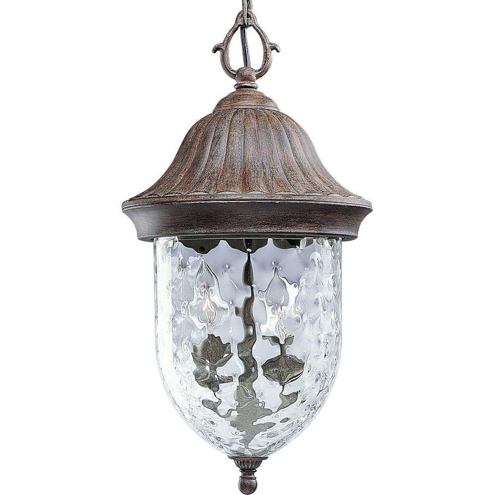 Lanterne suspendue à 2 Lumières, Collection Coventry - fini Pierre de Champ