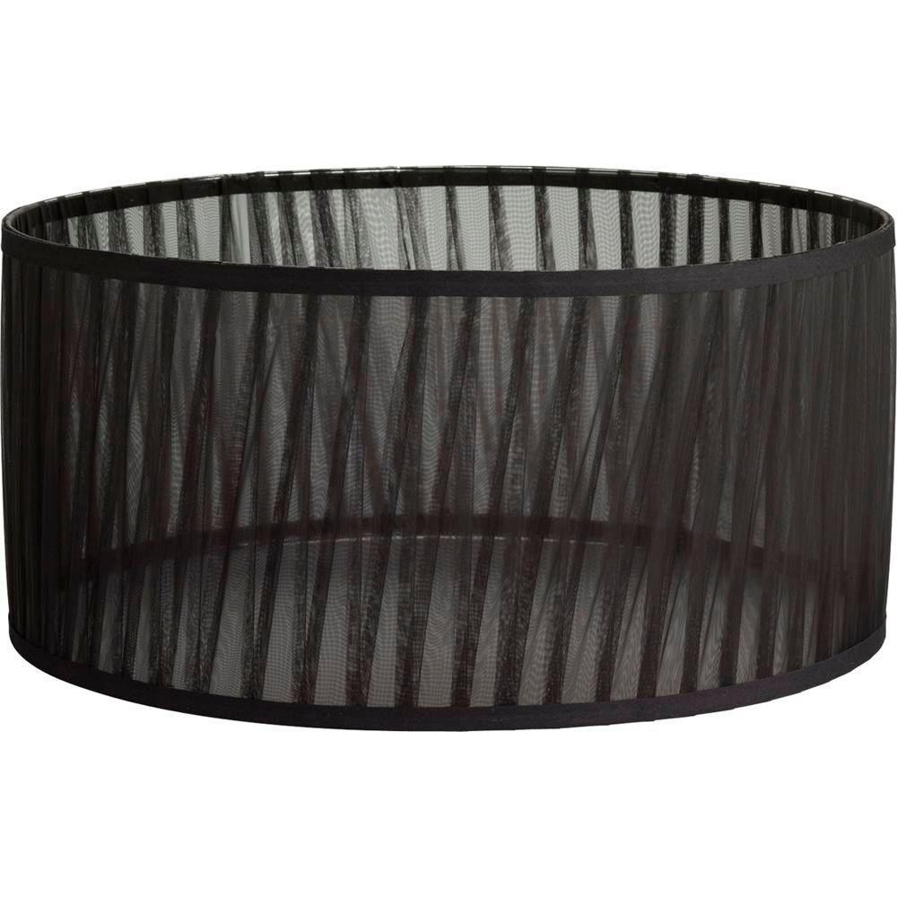 Abat-jour, Collection Noir - fini Mousseline de Soie Noir