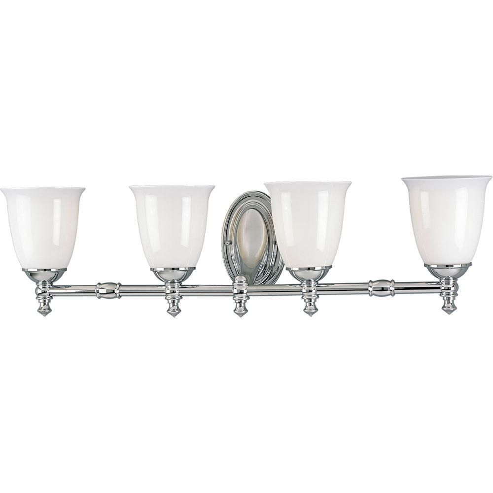 Victorian Collection Chrome 4-light Wall Bracket