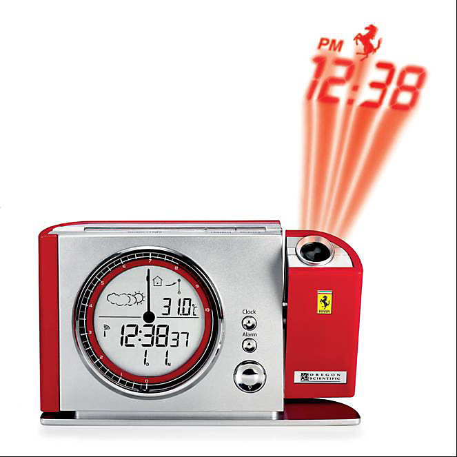 Radio Controlled Projection Alarm Clock with Temperature Display
