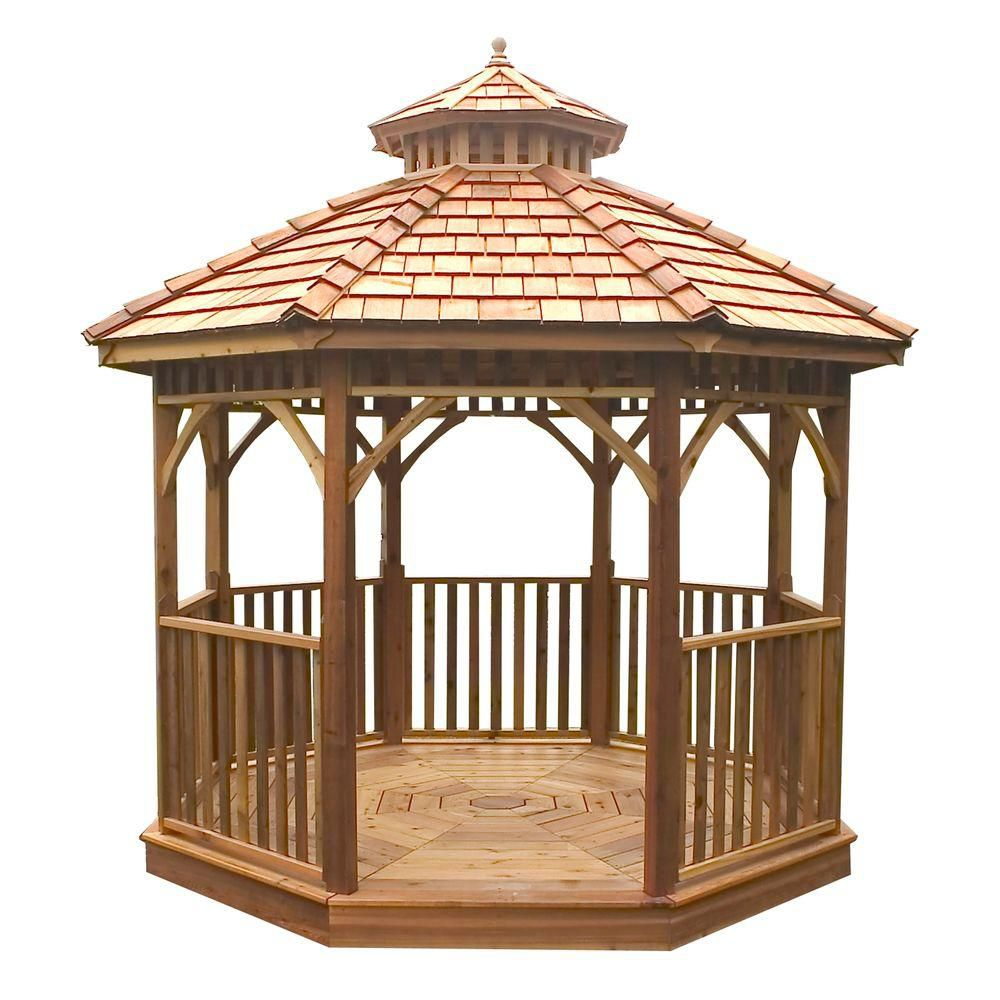 Outdoor Living Today Bayside 12 Ft Octagon Panelized Gazebo The Home Depot Canada