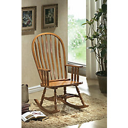 Monarch Specialties Oak Arrow Windsor Back Rocking Chair
