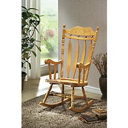 Monarch Specialties Light Oak 45 In. High Rocking Chair