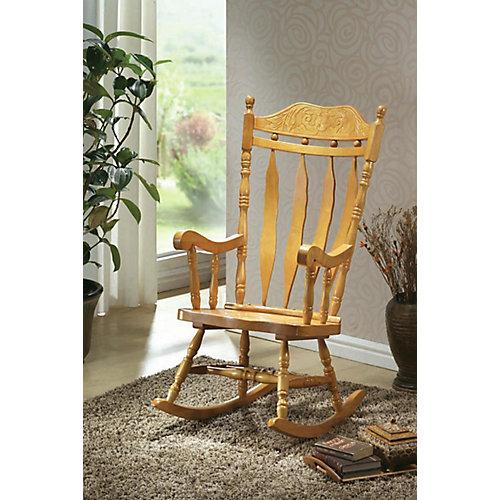 Light Oak 45 In. High Rocking Chair