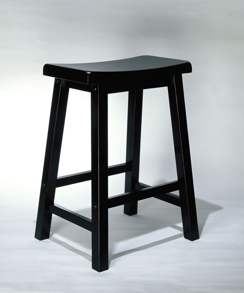 powell tabouret de comptoir noir 24 po home depot canada. Black Bedroom Furniture Sets. Home Design Ideas