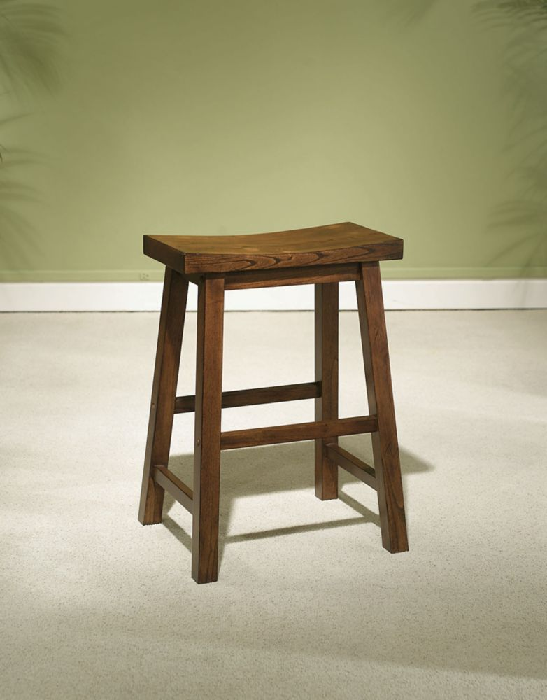 honey brown counter stool 24 seat height the home depot canada