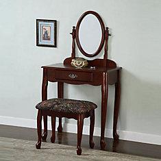 Heirloom Cherry Vanity, Mirror and Bench