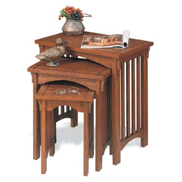 Mission Oak 3-Piece Nested Tables