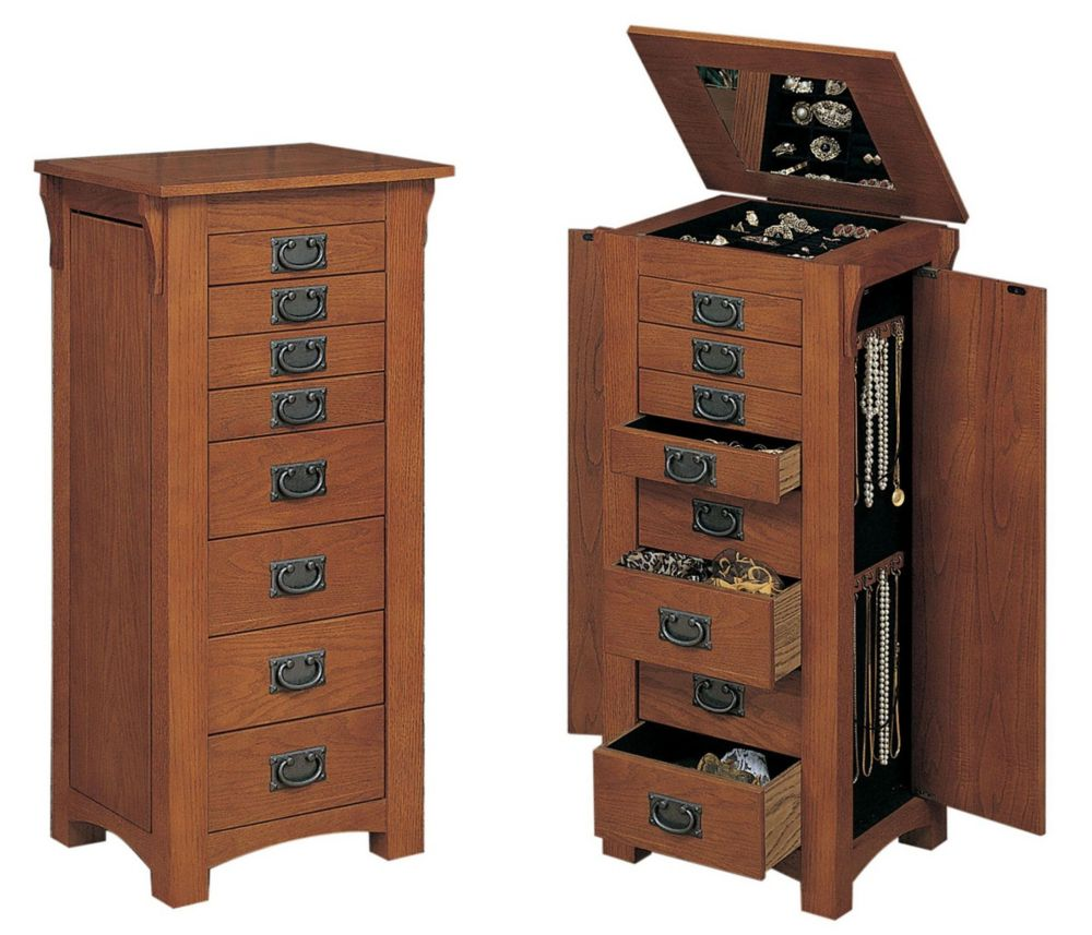 Powell Mission Jewelry Armoire
