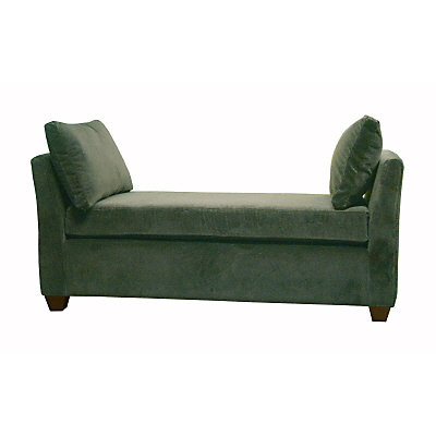 Pleasant Velvet Backless Chaise Lounge In Lagoon Home Interior And Landscaping Transignezvosmurscom