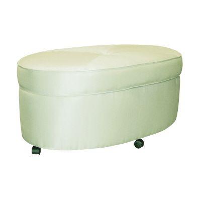 Prime Oval Shantung Storage Ottoman With Casters In Bamboo Mist Inzonedesignstudio Interior Chair Design Inzonedesignstudiocom