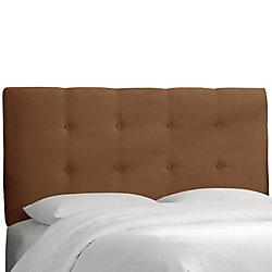 Skyline Furniture Dossier rembourré pour grand lit, en microsuède de première qualité, ton chocolat