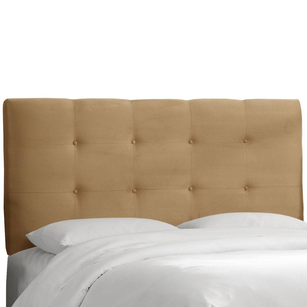 Upholstered Queen Headboard, Premier Microsuede, Saddle