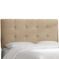 Skyline Furniture Dossier rembourré pour lit double, en microsuède de première qualité, ton avoine