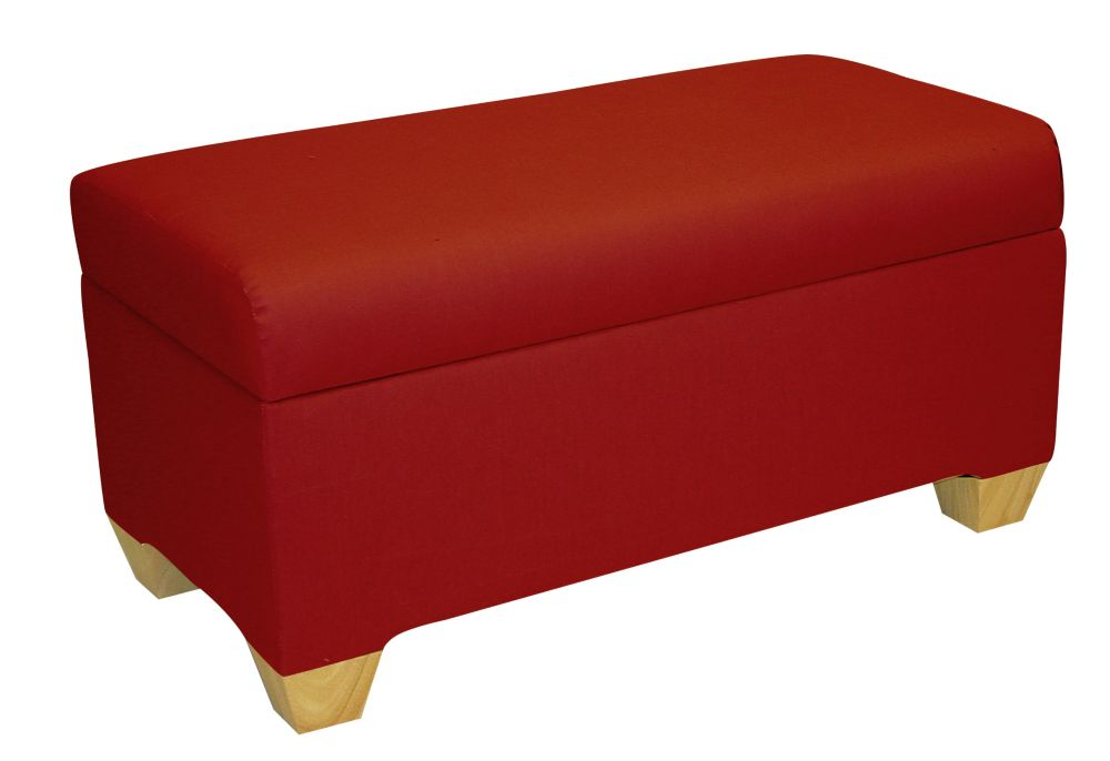 Skyline Furniture Kids Storage Bench In Duck Red The Home Depot Canada