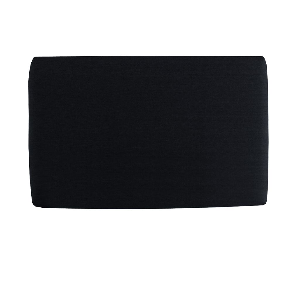 Upholstered Kids Full Headboard In Duck Black
