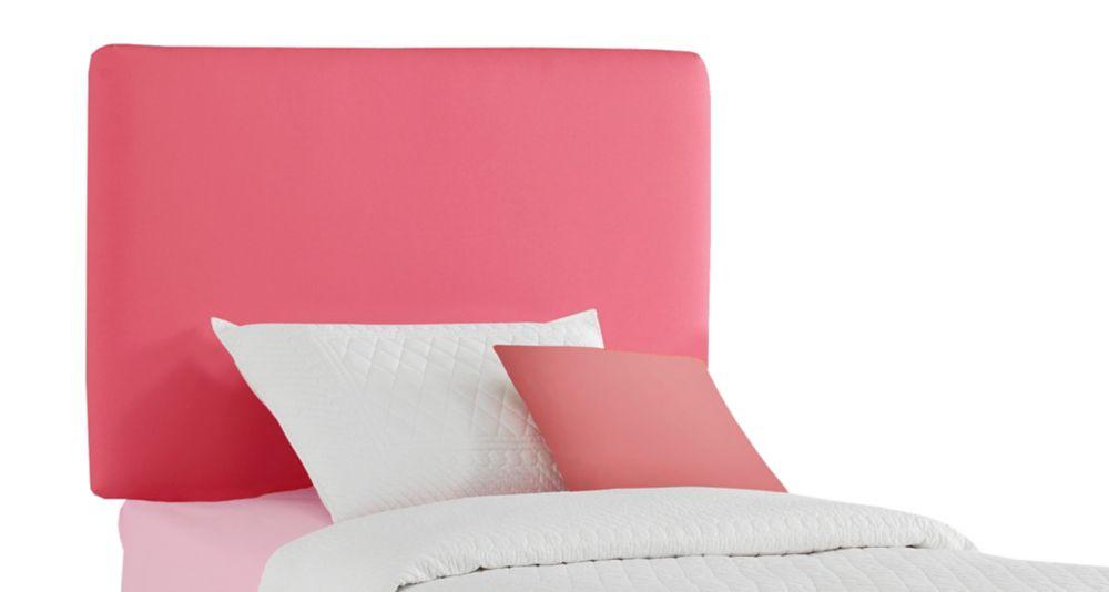 Upholstered Kids Twin Headboard In Duck Pink