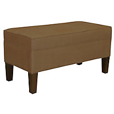 39-inch x 20-inch x 18-inch Manufactured Wood Frame Bench in Beige