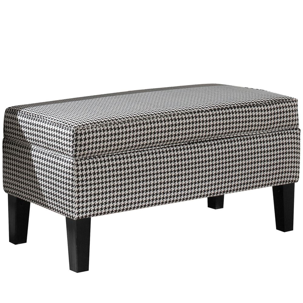 Upholstered Storage Bench In Berne Black