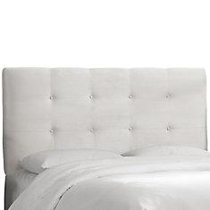 Tufted King Headboard in Premier White