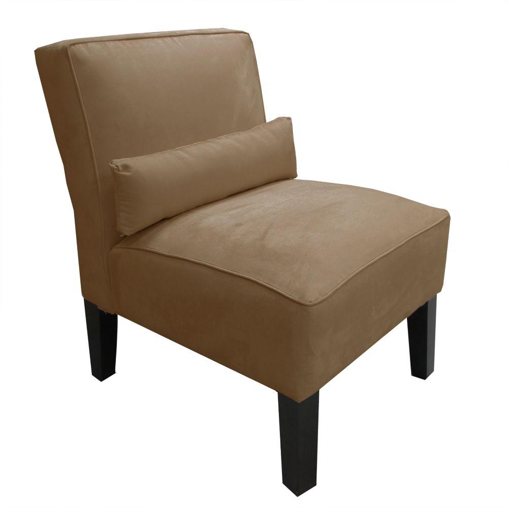 Armless Chair In Premier Microsuede Khaki