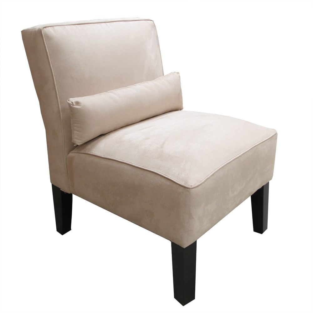 Armless Chair In Premier Microsuede Oatmeal