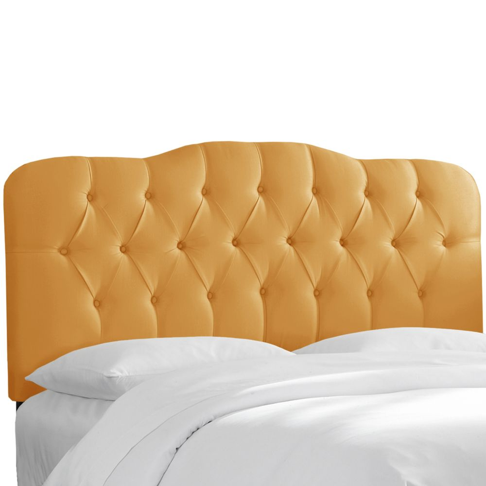 Tufted King Headboard In Shantung Aztec