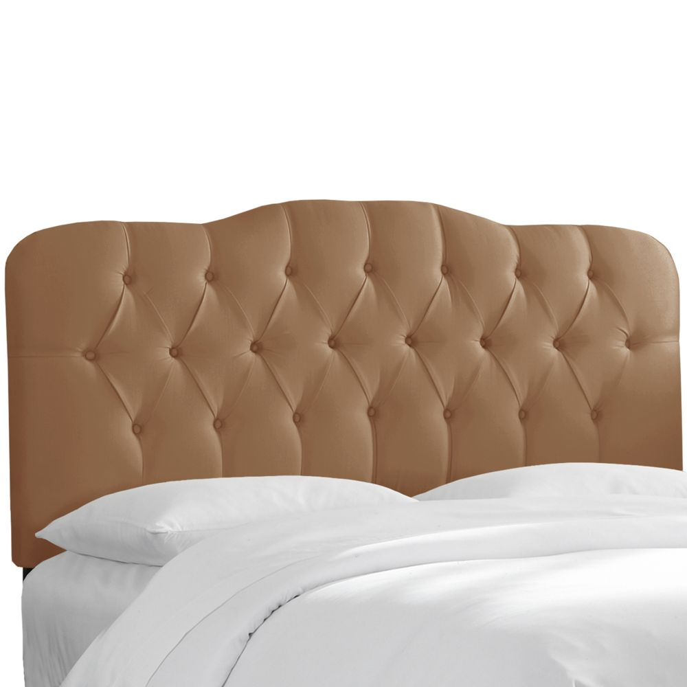 Tufted Full Headboard In Shantung Khaki