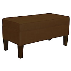 39-inch x 20-inch x 18-inch Manufactured Wood Frame Bench in Brown