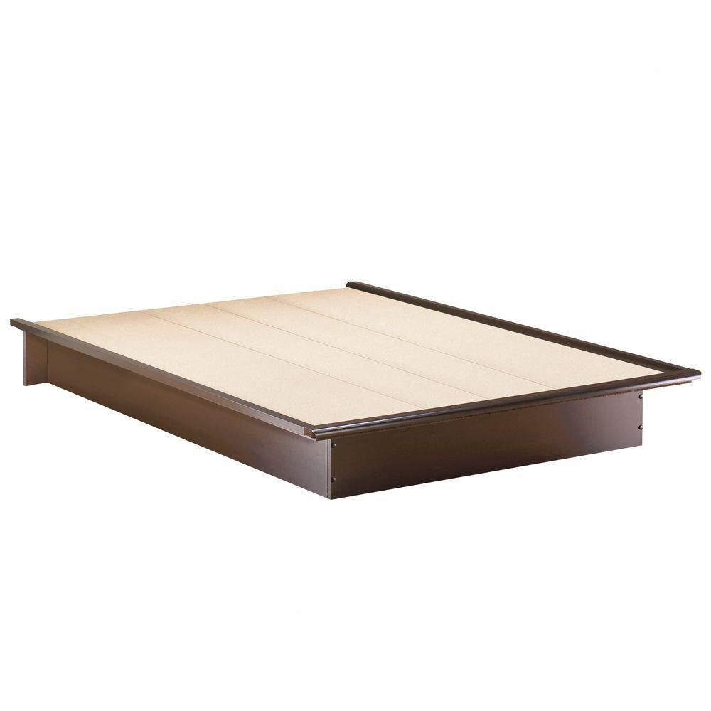 Step One Queen Size Platform Bed In Chocolate