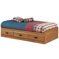 South Shore Prairie Twin Mates Bed (39 inch) with 3 Drawers, Country Pine
