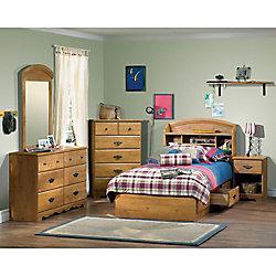 South Shore Bureau double 6 tiroirs Prairie, Pin country