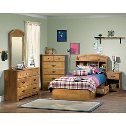 South Shore Prairie 6-Drawer Double Dresser, Country Pine