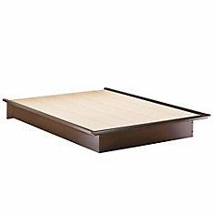 Lit Plate-Forme Double(54'') Lux au Fini Chocolat