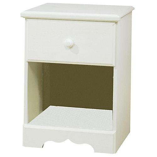 Summer Breeze 1-Drawer Nightstand, White Wash
