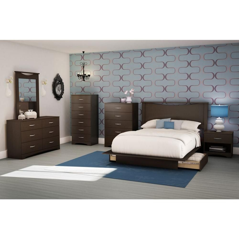 LUX Six-Drawer Double Dresser in Chocolate