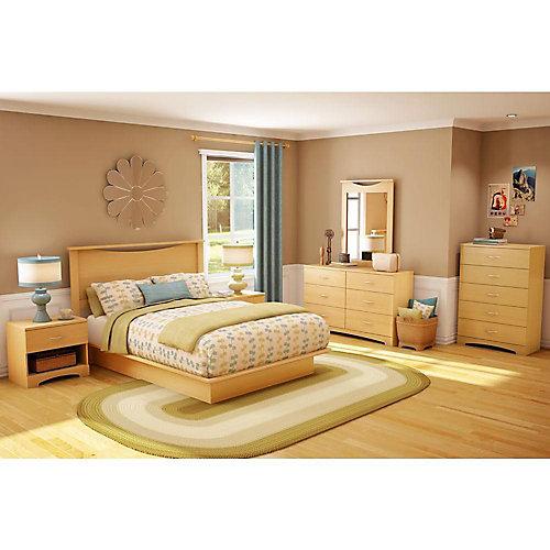 Urben Double Platform Bed with Moulding