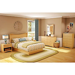 Urben Double Platform Bed with Moulding