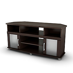 City Life City Life Corner TV Stand in Chocolate
