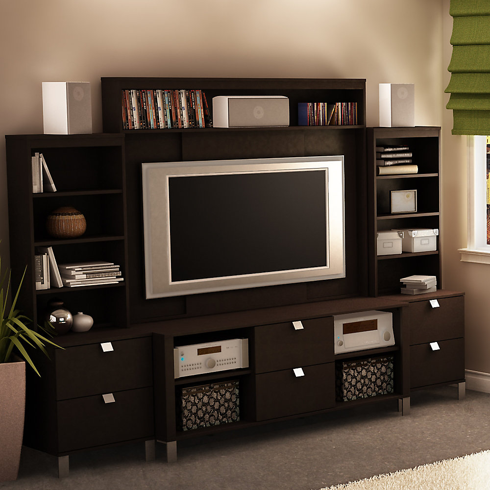 52 In Spectra Tv Stand Hutch 2 Media Towers